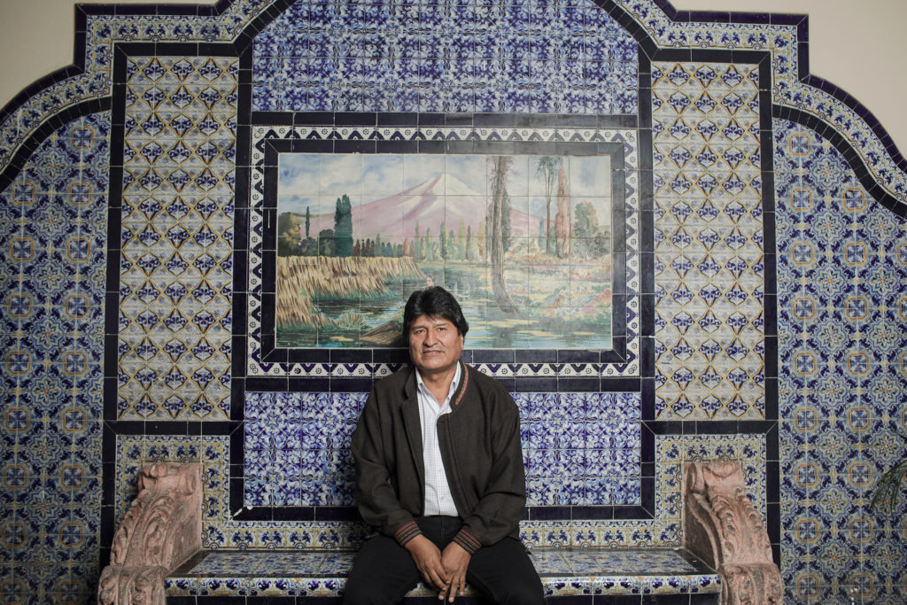 Evo Morales for the Wall Street Journal